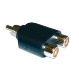 ACT Adapter RCA - 2xRCA RCA Han/Male til 2xRCA Hun/ Female (MA90)