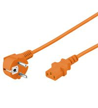GOOBAY Cold-device Connection Cord Angled 2m orang Factory Sealed (95288)