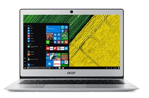 "ACER Swift 1 13.3"" Full HD matt sølv Celeron N3450 Quad Core, 4GB RAM, 64GB SSD, Windows 10 S / 10 Pro (NX.GP2ED.012)"