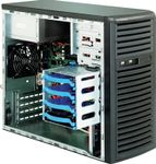 SUPERMICRO CASE MICRO-ATX MINI TOWER CHASSIS 300W EXTERNAL WITH 9CM FAN (CSE-731I-300B)