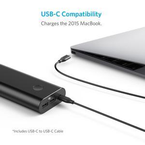 ANKER PowerCore+ 20100mAh Powe USB-C  Svart (A1371012)