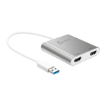 J5 CREATE USB 3.0 to Dual HDMI, Multi-Montior Adapter, 4K, USB 3.0, silver
