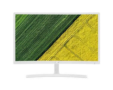 ACER ED242QRwi 60cm 23.6inch Curved FreeSync 4ms 100M:1 ACM 250nits VA LED VGA HDMI Euro/UK EMEA White EcoDisplay (UM.UE2EE.001)