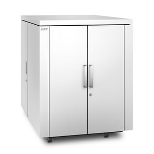 APC NetShelter CX 18U Secure Soundproof Server Room in a Box Enclosure - Shock Packaging - White (AR4018SPX432)