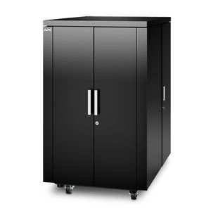 APC NetShelter CX24U Secure Soundproof Server Room in a Box Enclosure - Shock Packaging - Black (AR4024SPX429)