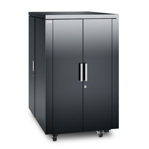 APC NetShelter CX 24U Secure Soundproof Server Room in a Box Enclosure - Shock Packaging - Dark Grey (AR4024SPX431)