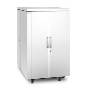 APC NetShelter CX 24U Secure Soundproof Server Room in a Box Enclosure - Shock Packaging - White (AR4024SPX432)