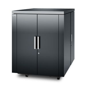 APC NetShelter CX 18U Secure Soundproof Server Room in a Box Enclosure - Shock Packaging - Dark Grey (AR4018SPX431)