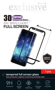 INSMAT 3D GLASS FS GALAXY S8+/ S9+BLACK (860-9983)
