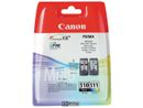 CANON PG-510 / CL-511 ink cartridge black and colour standard capacity black: 240 pages, colour: 244 pages multipack