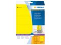 super print, label size, 192 x 61 mm, 20 sheets, yellow, 80 labels (20) / HERMA (5096)