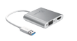 J5 CREATE USB 3.0 to HDMI VGA Multi-Montior Adapter, 1080p, USB 3.0, silver