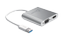 J5 CREATE USB 3.0 to HDMI VGA Flerskärmsadapter,  1080p, USB 3.0, silver