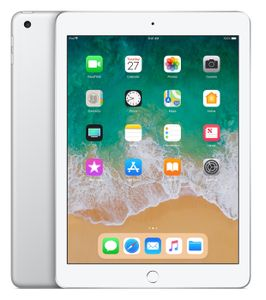 "APPLE iPad 9.7"" 128GB WiFi Sølv WiFi, 9.7"" FHD retina-skjerm,  8MP/1.2MP Kamera, iOS 11 (6th gen) (MR7K2KN/A)"