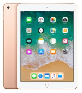 "APPLE iPad 9.7"" 128GB WiFi Gull WiFi, 9.7"" FHD retina-skjerm,  8MP/1.2MP Kamera, iOS 11 (6th gen) (MRJP2KN/A)"