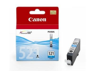 CANON CLI-521C ink cartridge cyan standard capacity 9ml 505 pages 1-pack (2934B001)
