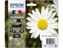 EPSON 18XL ink cartridge black and tri-colour high capacity 31.3ml 1-pack blister without alarm