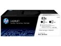 HP 2-Pack Black Laser Toner HC (83X)