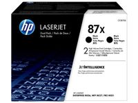 HP TONER CARTRIDGE 87X BLACK DUAL PACK (CF287XD)