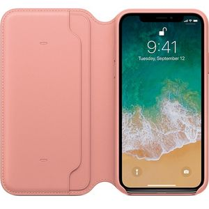 APPLE iPhone X Leather Folio - Soft Pink (MRGF2ZM/A)