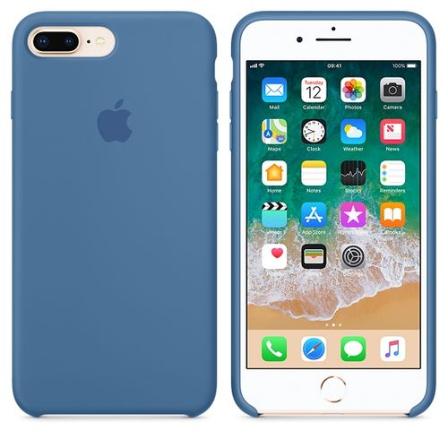 APPLE IPHONE 8 PLUS / 7 PLUS SILICONE CASE - DENIM BLUE ACCS (MRFX2ZM/A)