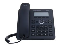 AUDIOCODES IP420HDPS IP-Phone, black 2lines, 128x48LCD,  w/PSU no PoE (IP420HDPS)