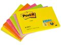 POST-IT Notes POST-IT Z-block 76x127mm neon 6/FP