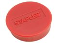 STAPLES Magnet STAPLES 25mm rød 10/pk.