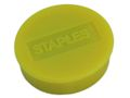 STAPLES Magnet STAPLES 25mm gul 10/pk.