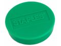 STAPLES Magnetknapper STAPLES 10mm grøn 10/pk.