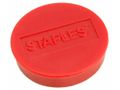 Magnetknappar STAPLES 30mm röd 10/FP / STAPLES (5141339)