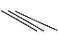 STAPLES Spiralryg STAPLES plast 10mm sort 100/pk