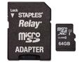 STAPLES Minneskort STAPLES MicroSDHC/XC 64GB