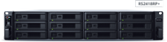 SYNOLOGY RS2418RP+ 2U 12 BAY 2 1GHZ QC 4 GB DDR4 4X GBE 2X USB3.0 RPS IN (RS2418RP+)