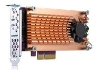 QNAP Dual M.2 PCIe SSD expansion card; supports up to two M.2 2280/ 22110