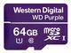 WESTERN DIGITAL WD Purple 64GB Surveillance microSDXC Class 10 UHS 1 read 80 MB/s write 50 MB/s