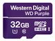 WESTERN DIGITAL WD Purple 32GB Surveillance microSDHC Class 10 UHS 1 read 80 MB/s write 50 MB/s