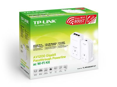 TP-LINK AV1200 Gigabit Powerline ac Wi-Fi KIT Twin Pack / TL-WPA8630 KIT v2 (TL-WPA8630 KIT V2)