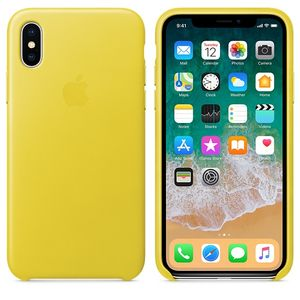 APPLE IPHONE X LEATHER CASE SPRING YELLOW (MRGJ2ZM/A)