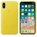APPLE iPhone X Leather Case - Spring Yellow (MRGJ2ZM/A)
