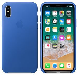 APPLE iPhone X Leather Case - Electric Blue (MRGG2ZM/A)