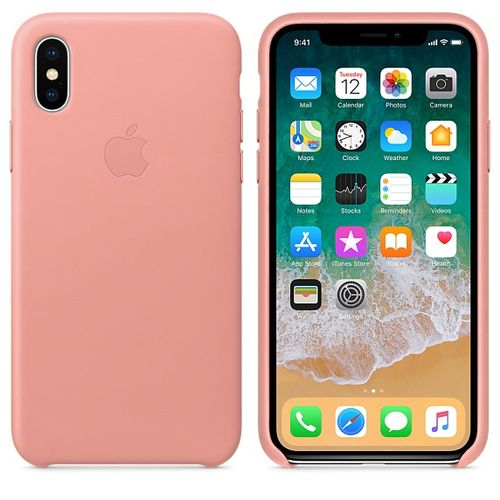 APPLE iPhone X Leather Case - Soft Pink (MRGH2ZM/A)