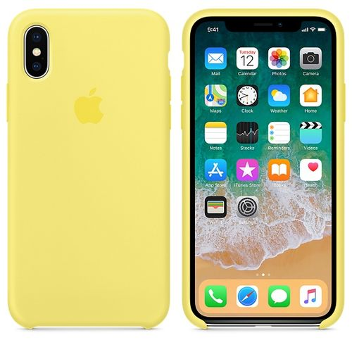 APPLE IPHONE X SILICONE CASE LEMONADE ACCS (MRG32ZM/A)