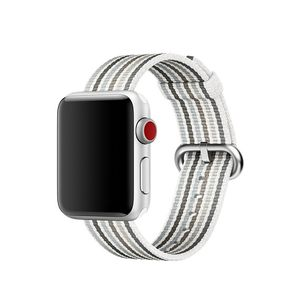 APPLE 38mm Gray Stripe Woven Nylon (MRH92ZM/A)