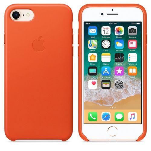 APPLE iPhone 8/7 Leather Case - Orange (MRG82ZM/A)