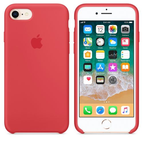 APPLE IPHONE 8 / 7 SILICONE CASE RED RASPBERRY ACCS (MRFQ2ZM/A)