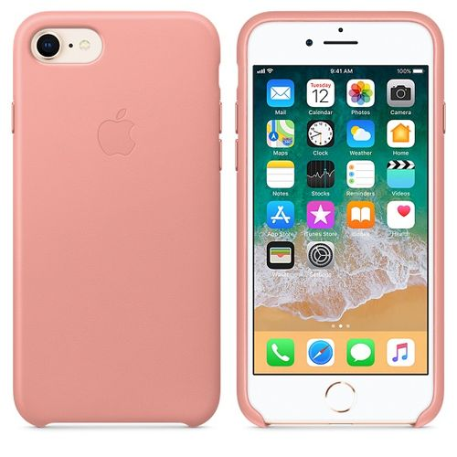 APPLE iPhone 8/7 Leather Case - Soft Pink (MRG62ZM/A)