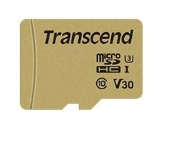 TRANSCEND Memory card Transcend microSDXC USD500S 64GB CL10 UHS-I U3 Up to 95MB/S +adapter (TS64GUSD500S)
