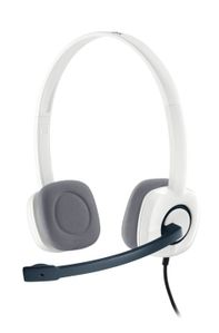 LOGITECH Stereo Headset H150 Coconut The noise-cancelling microphone reduces annoying background noise (981-000350)