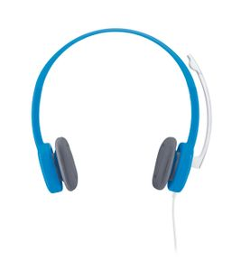 LOGITECH Stereo Headset H150 Blueberry The noise-cancelling microphone reduces annoying background noise (981-000368)
